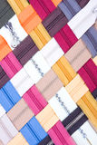 Pattern of interlocking zippers Royalty Free Stock Images