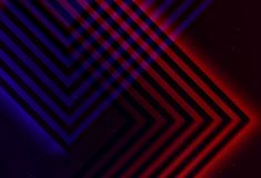 Pattern of intersected blue and red lines. Abstract dark digital background. Geometric pattern of intersected blue and red glowing corners useful as a mobile Royalty Free Stock Photos