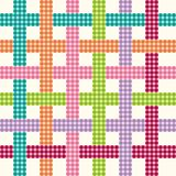 Pattern of intersecting squares. Seamless pattern of colored squares are intertwined Royalty Free Stock Photo