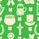 Pattern of irish St. Patrick's Day, vector  Stock Photo