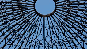 Pattern of Iron Casing. From the dome of a gazebo in the garden stock images