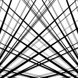 Pattern of irregular, random lines. Black and white abstract tex Royalty Free Stock Photo