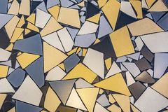Pattern of irregular tiles at the floor stock photography