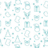 Pattern isolated with symbol of Christmas. Stock Photography