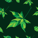 Pattern with ivy leaves Stock Image