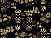 Pattern362 japonês ilustração stock