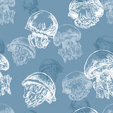 Pattern of the jellyfishes Royalty Free Stock Photo