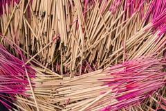 Pattern of joss stick. Stock Photo