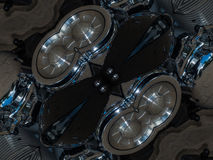 Pattern of kaleidoscope abstract grey pattern Royalty Free Stock Images