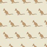 Pattern with Kangaroo Stock Photos