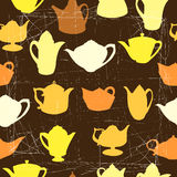 Pattern with kettles Stock Photos