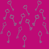 Pattern keys Royalty Free Stock Photos
