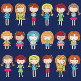 Pattern kids pink background butterfly Royalty Free Stock Photos