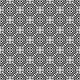 Vector black and white seamless floral polka dot pattern design royalty free stock images