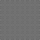 Vector black and white seamless floral polka dot pattern design royalty free stock photo
