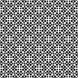 Vector black and white seamless floral polka dot pattern design Royalty Free Stock Image