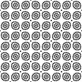 Vector black and white seamless floral polka dot pattern design Stock Image