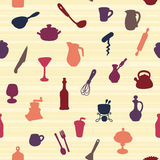 Pattern of Kitchen utensil Stock Image