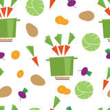 Pattern kitchen vegetable casserole Stock Image