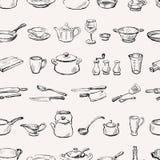 Pattern of kitchenware Stock Image