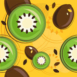 pattern of kiwi Stock Images