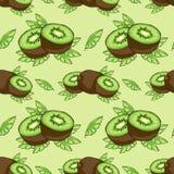 Pattern of kiwi. Stock Photos