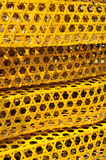 Pattern from knitted cage surface Stock Photography