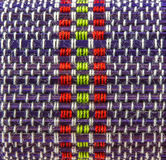 Pattern of knitting beautiful color rope. The pattern of knitting beautiful color rope Royalty Free Stock Photography
