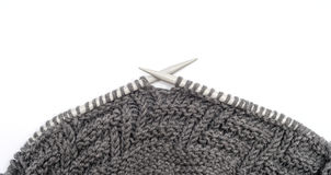 Pattern of knitting. Isolated on white Royalty Free Stock Photo