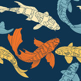 The pattern of koi Stock Photo