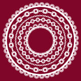 Pattern of lace doily. Royalty Free Stock Photography