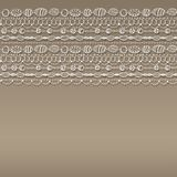 Pattern with lacy design Stock Image