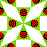 Pattern with ladybugs Stock Photography