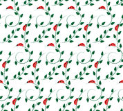 Pattern with ladybugs Royalty Free Stock Images