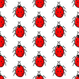Pattern with ladybugs Royalty Free Stock Photography