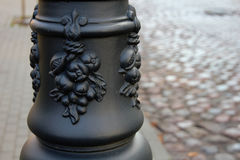 The pattern on the lamp post Royalty Free Stock Photos
