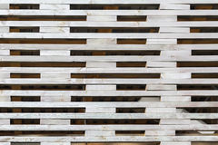 Pattern from lattice fence, created by small wood stripes with rectangular holes in between. For natural pattern Stock Photography