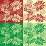 Pattern leaf-fall Royalty Free Stock Image