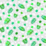 Pattern with leafs inspired by tropical nature Stock Photo