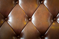 Pattern of leather. Pattern of brown genuine leather texture using as background Royalty Free Stock Photos