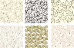 Pattern with leaves Royalty Free Stock Images