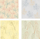 Pattern with leaves Royalty Free Stock Image