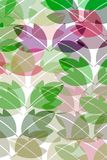 Pattern with leaves Stock Image