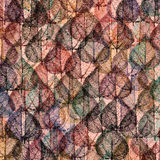 Pattern with leaves Royalty Free Stock Photo