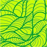 Pattern of leaves. Abstract pattern of green leaves for design Stock Photography