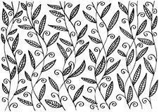 Pattern with  leaves and branches. Royalty Free Stock Photo