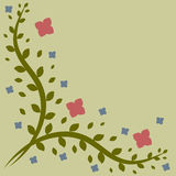 Pattern of leaves and flowers. Royalty Free Stock Images