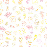 Pattern with leaves. Stock Photo