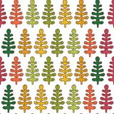 Inspiration in autumn. Seamless pattern with leaves. Pattern with leaves. Seamless image of the leaves. Wallpaper for textiles, wrappings, background Royalty Free Stock Photography