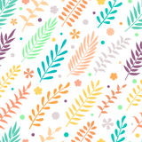 Pattern with leaves. Royalty Free Stock Image